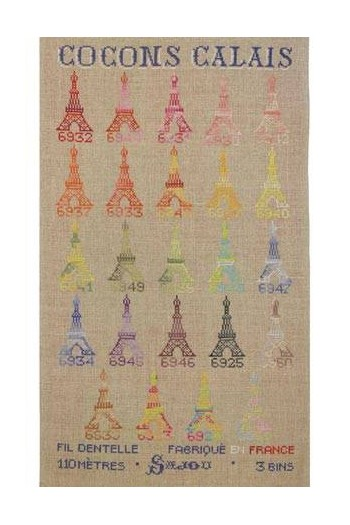 Sajou cross stitch kit : Calais variegated cocoons collection
