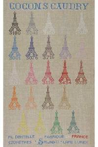 Sajou cross stitch pattern chart : Caudry cocoons collection