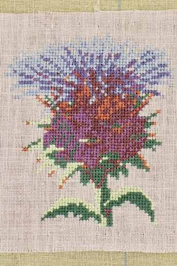 Cross stitch kit: Cardoon small model