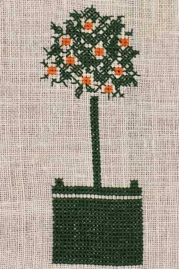 Cross stitch kit: Orange tree