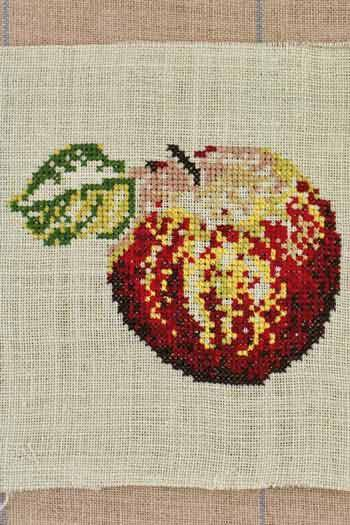 Cross stitch kit: Reinette apple small model