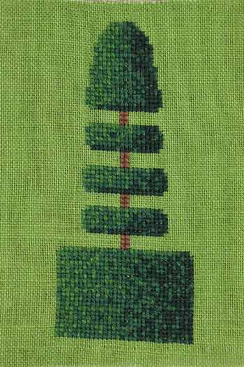 Cross stitch kit: Topiary small model