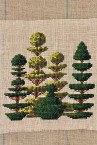 Cross stitch kit: Small topiaries