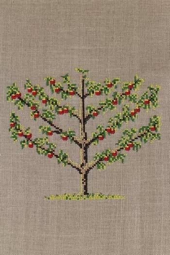 Cross stitch kit: Staked apple tree