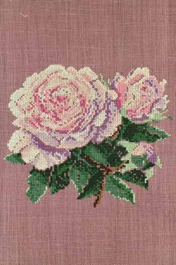 Cross stitch kit: Rose large model