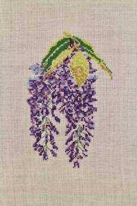 Cross stitch kit: Wisteria
