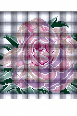 Cross stitch rose from the Floral Parc in Apremont