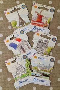 Six ribbon and thread storage cards  - Paris
