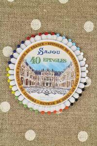 Rosette 40 glass headed pins - Sajou - Marble courtyard of Versailles castle