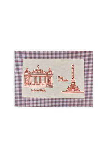 Sajou table mat cotton piqué Grand Palais and Place du Chatelet