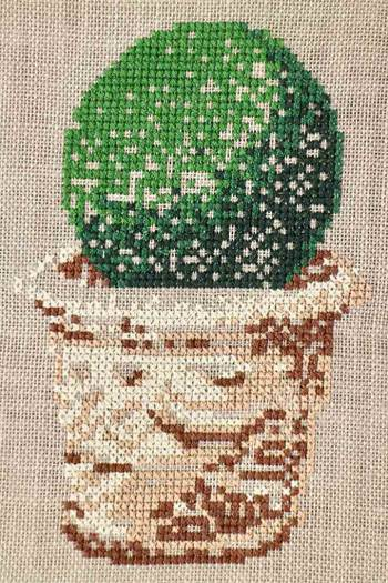 Cross stitch kit: Potted topiary small model
