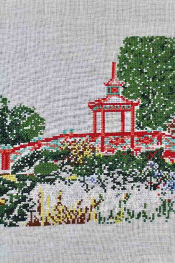 Embroidered Pagoda Bridge from the Floral Park in Apremont-sur-Allier