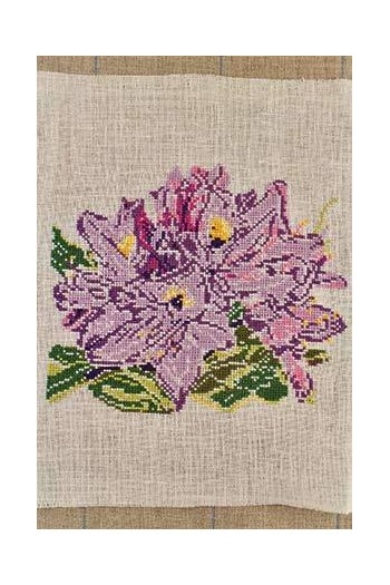 Embroidered rhododendron from the Château in Breteuil