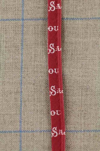 2mm Ø cotton piping Sajou fabric Antibes red