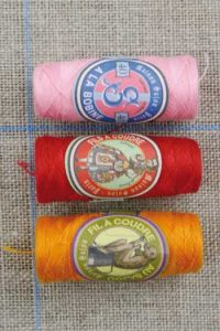 Polyester sewing thread Three Sajou cocoons Bright assortment