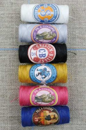 Polyester sewing thread Three Sajou cocoons Classic assortment