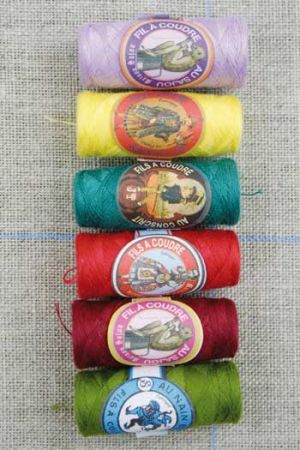 Polyester sewing thread six Sajou cocoons Bright assortment