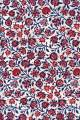 Sajou indienne fabric small red and blue motifs on cream base (indienne N°9)