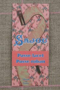Lace threading bodkin Threads - Ribbons pink card