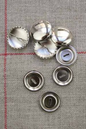 Metal buttons to cover - Size 19mm