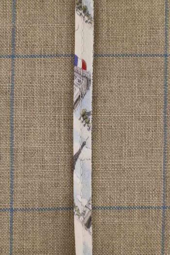 Passepoil coton cordon 2 mm en tissu Sajou Ma belle ville de Paris coordonné 1
