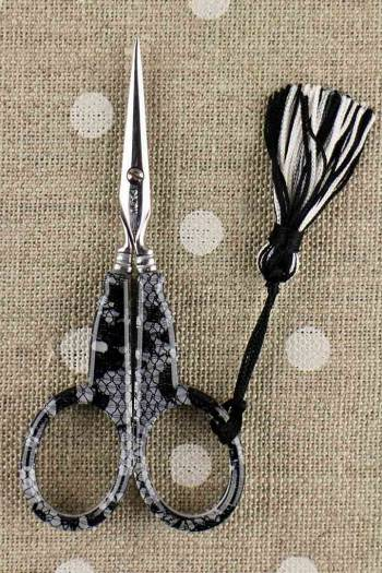 Sajou black Calais lace embroidery scissors Limited Edition