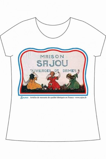 Sajou White short-sleeved t-shirt Little Sajou Girls