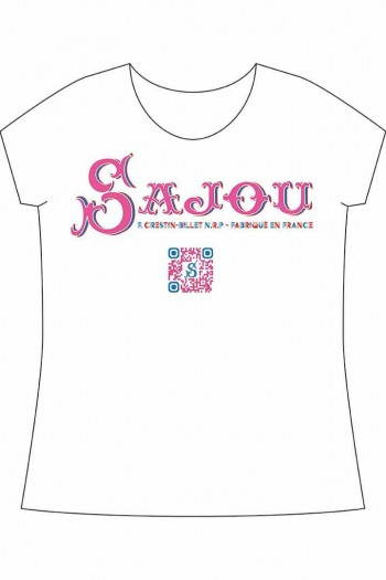 White t-shirt Sajou and Jouy animals