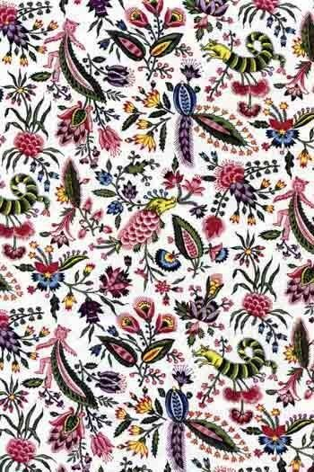 Sajou Coquecigrues fabric swatch main motif