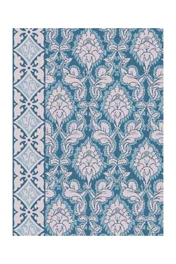 Sajou Damas blue fabric swatch main motif