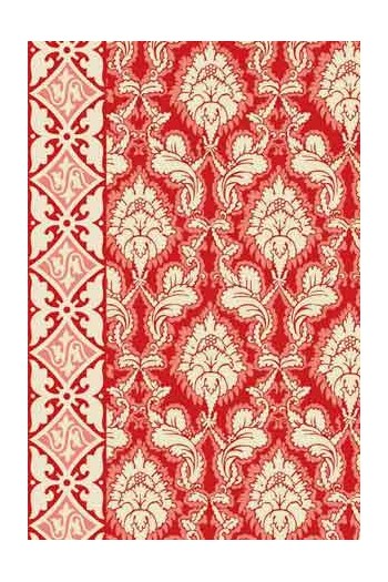 Sajou Damas red fabric swatch main motif
