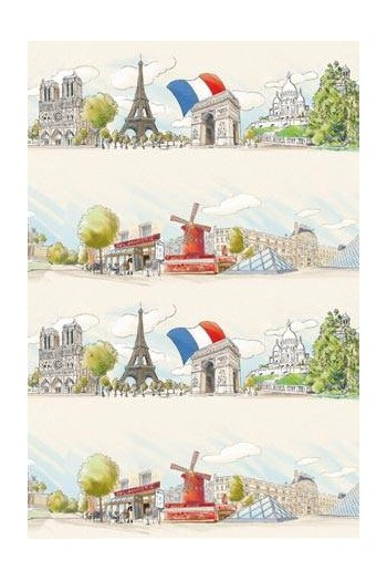 Fat Quarter Sajou-Stoff Paris Hauptmotiv