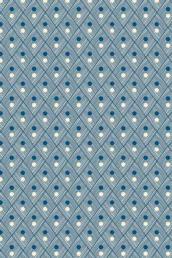 Sajou Plaisirs de la campagne blue fabric swatch coordinate 1