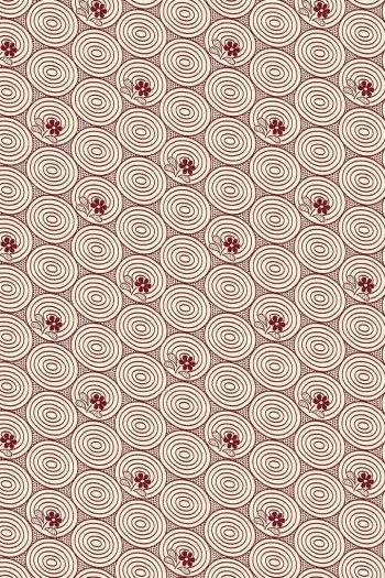 Sajou Travaux de la Manufacture bordeaux fabric swatch coordinate 1