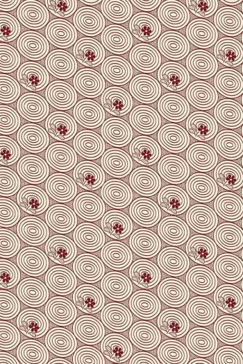 Sajou Travaux de la Manufacture bordeaux fabric swatch coordinate 1