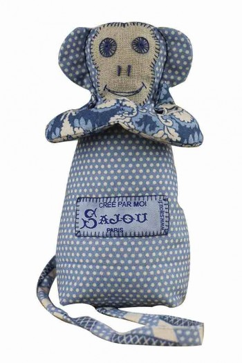 Sajou monkey Damas blue coordinate 2