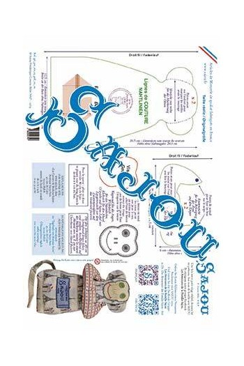 Sajou downloadable monkey pattern A3 in French and German