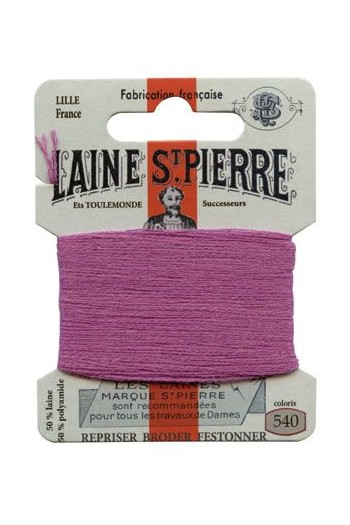 Laine Saint-Pierre 10 m card darning / embroidery 540 Violet