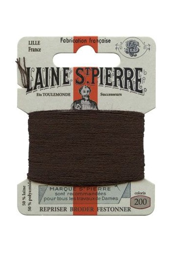 Laine Saint-Pierre 10 m card darning / embroidery 200 Dark Brown
