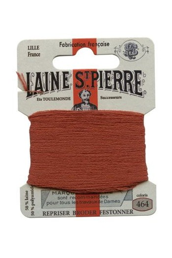 Laine Saint-Pierre 10 m card darning / embroidery 464 Rust