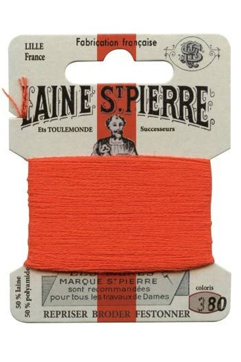 Laine Saint-Pierre zum Sticken/Stopfen - Nr. 380 Rot-orange