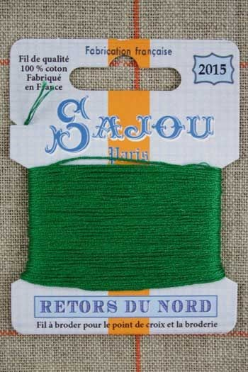 Sajou embroidery thread Retors du Nord n°2015 Lawns