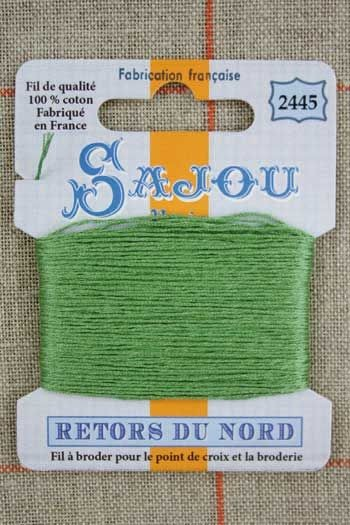 Sajou embroidery thread Retors du Nord n°2445 Olive