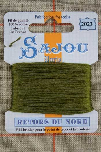 Sajou embroidery thread Retors du Nord n°2023 Boxwood