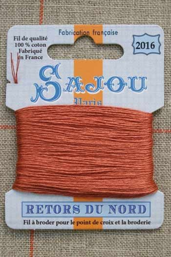 Sajou embroidery thread Retors du Nord n°2016 Warbler