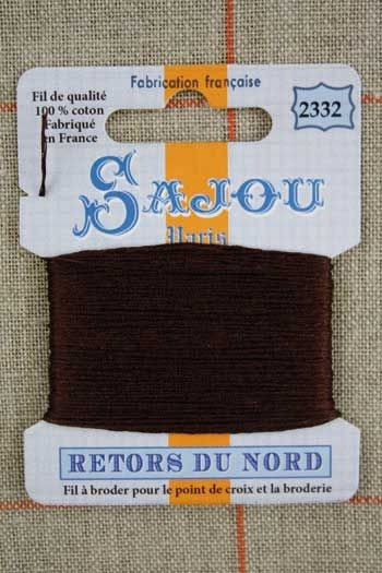 Sajou embroidery thread Retors du Nord n°2332 Auburn