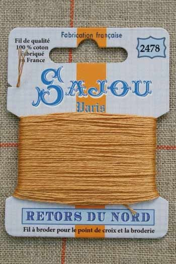 Sajou embroidery thread Retors du Nord n°2478 Suede