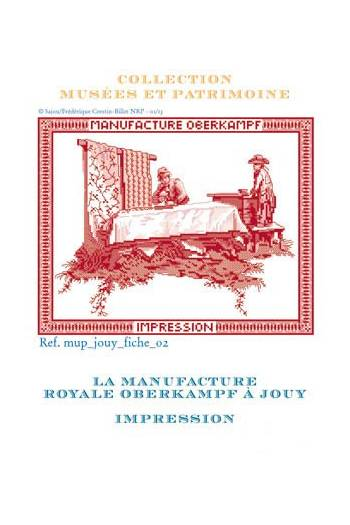 Cross stitch pattern chart: printing of toile de Jouy