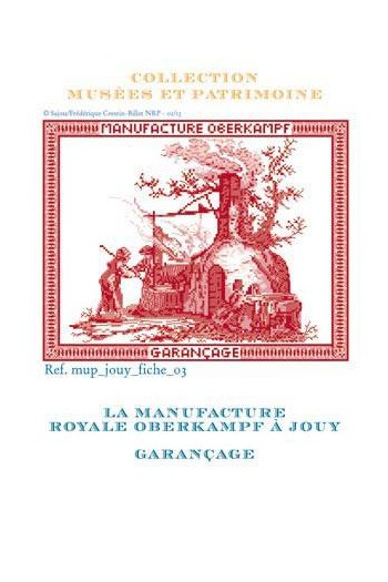 Cross-stitch pattern chart: garancage of Toile de jouy