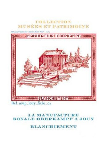 Cross-stitch pattern chart: whitening the toile de Jouy
